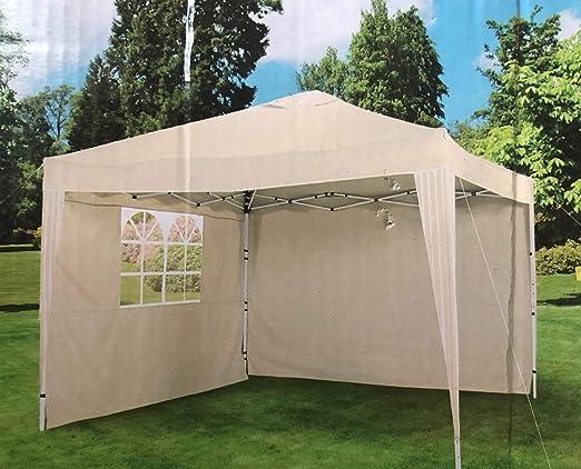 Garden Feelings - Carpa Plegable de Aluminio con Marco de Aluminio con Revestimiento de Polvo (3 x 3 m): Amazon.es: Jardín