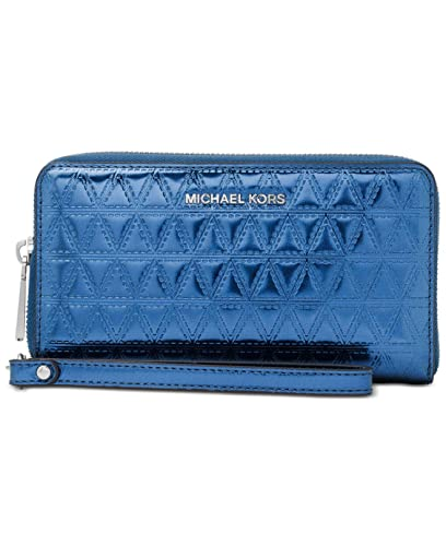 e3fc661e5153 Michael Michael Kors Mercer Large Flat Multi-Function Phone Case - Blue:  Amazon.co.uk: Shoes & Bags