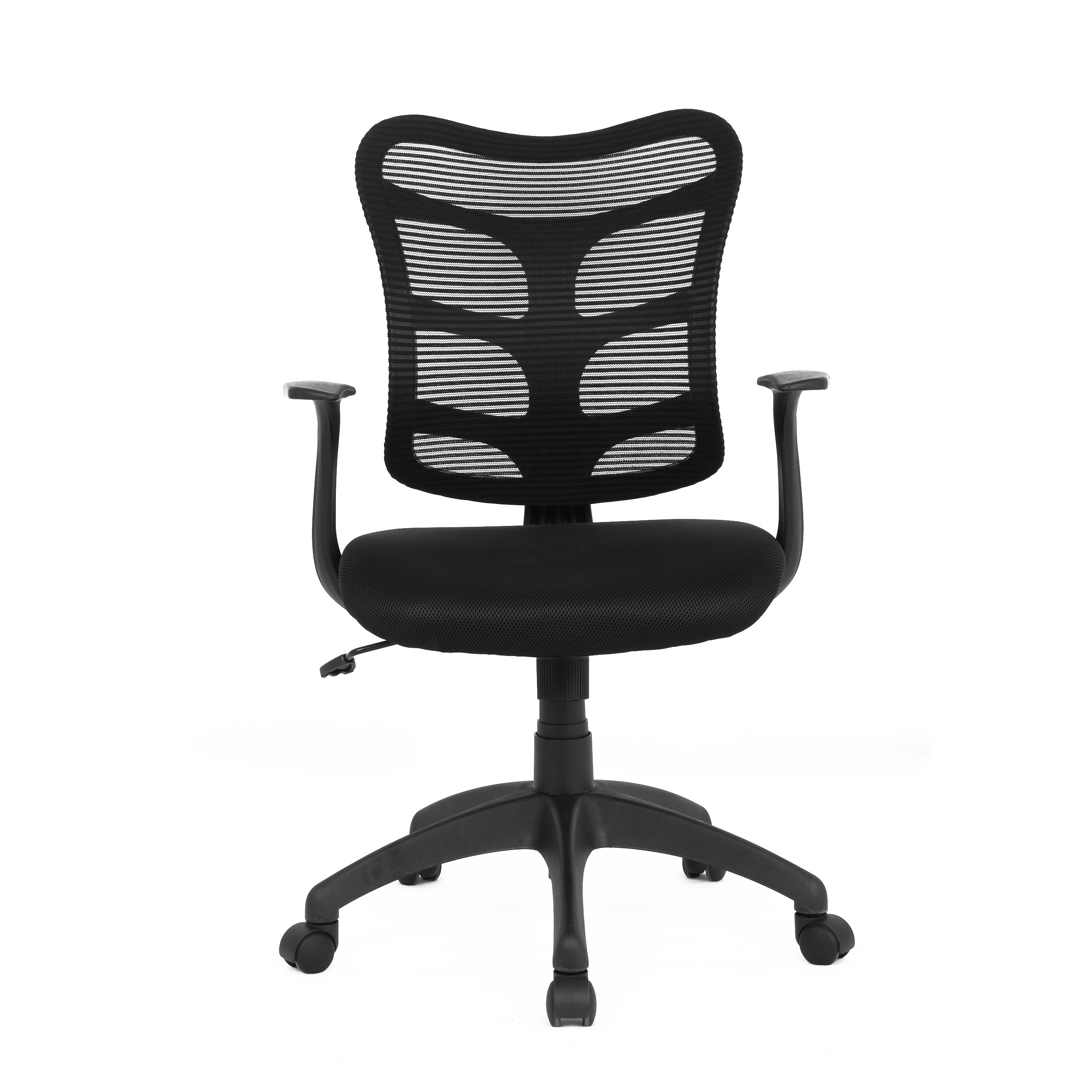 soges Mid Back Mesh Chair Adjustable Mesh Chair for Computer/Office Task Chair Swivel Chair with BIFMA Certification, Black HLC-0581-BK