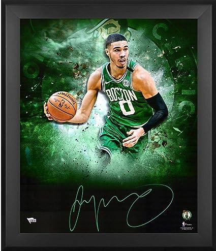 Jayson Tatum Boston Celtics Framed Autographed 20   x 24   In Focus  Photograph c25dfcbb5