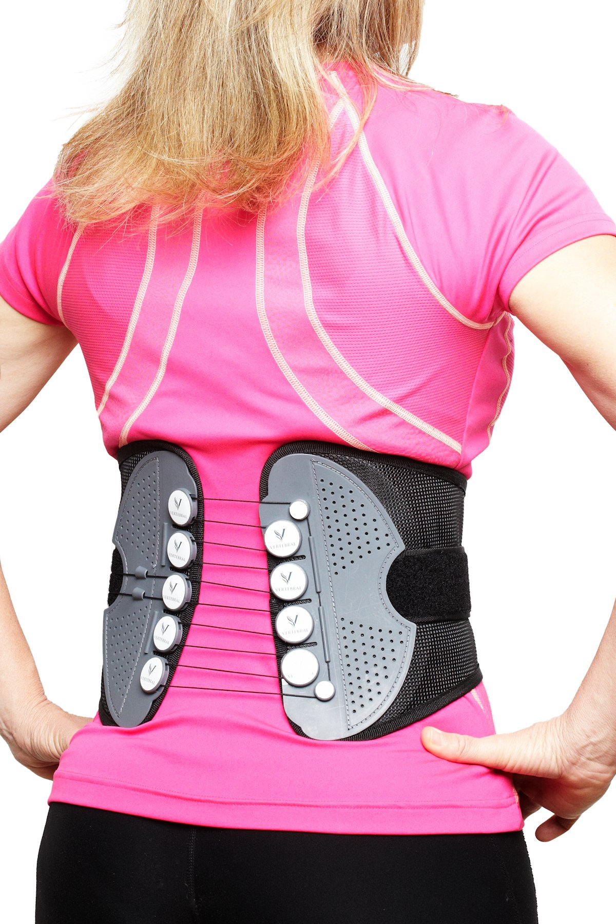 The Vertebral Back Brace (Small (Waist Size 25''-32'')