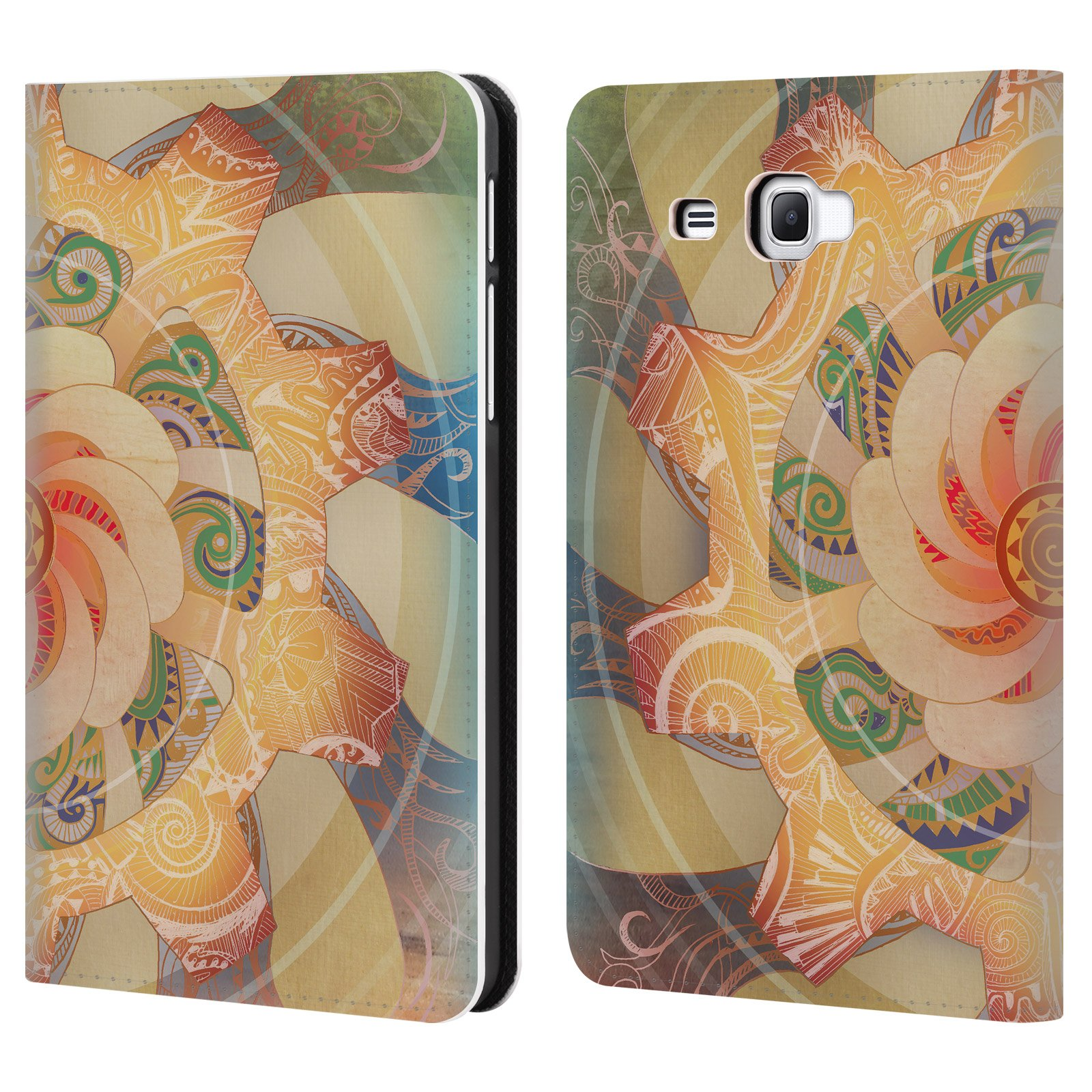 Official Brenda Erickson Solar Plexis Chakras Leather Book Wallet Case Cover For Samsung Galaxy Tab A 7.0 (2016)