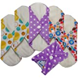 Love My® /Mama/Girl/Maiden/Antibacterial Bamboo fiber/ Menstrual Pads/ Reusable/ Panty Liners - 6pcs pack-(Small size)