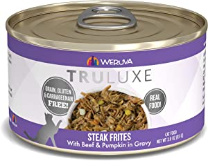 Weruva Truluxe Cat Food, Steak Frites With Beef & Pumpkin In Gravy, 3Oz Can (Pack Of 24)