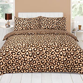 Wonderful BROWN LEOPARD PRINT KING SIZE DUVET COVER BED SET: Amazon.co.uk: Kitchen U0026  Home