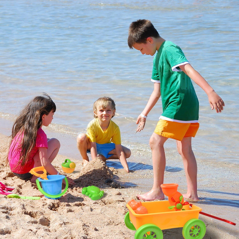 Beach Wagon Toys Set for Kids, Outdoor Sand Toys, Sandbox