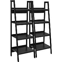 Ameriwood Home Lawrence 4 Shelf Ladder Bookcase Bundle