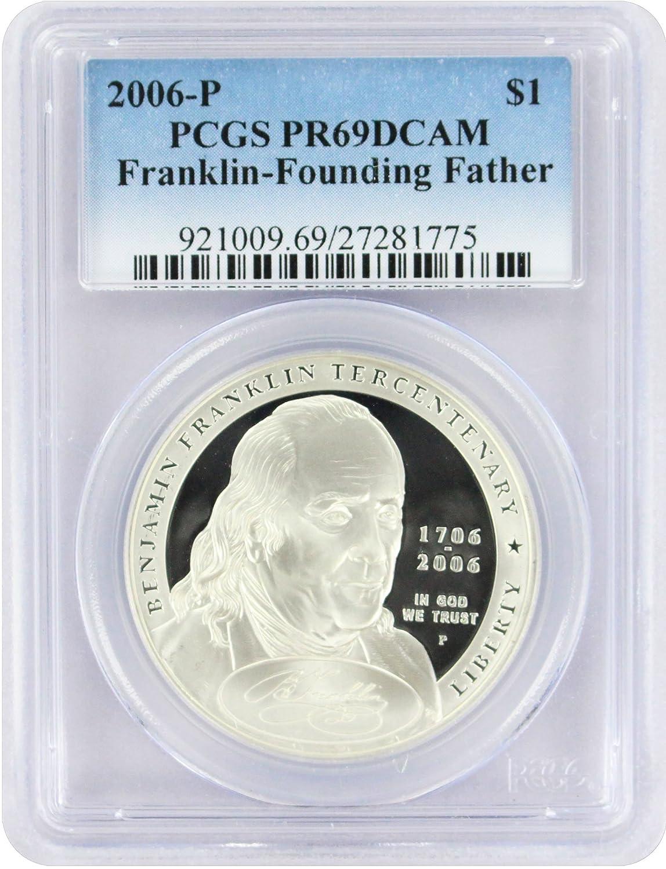 New PCGS Label 2006-P PCGS PR70DCAM Franklin-Founding Father