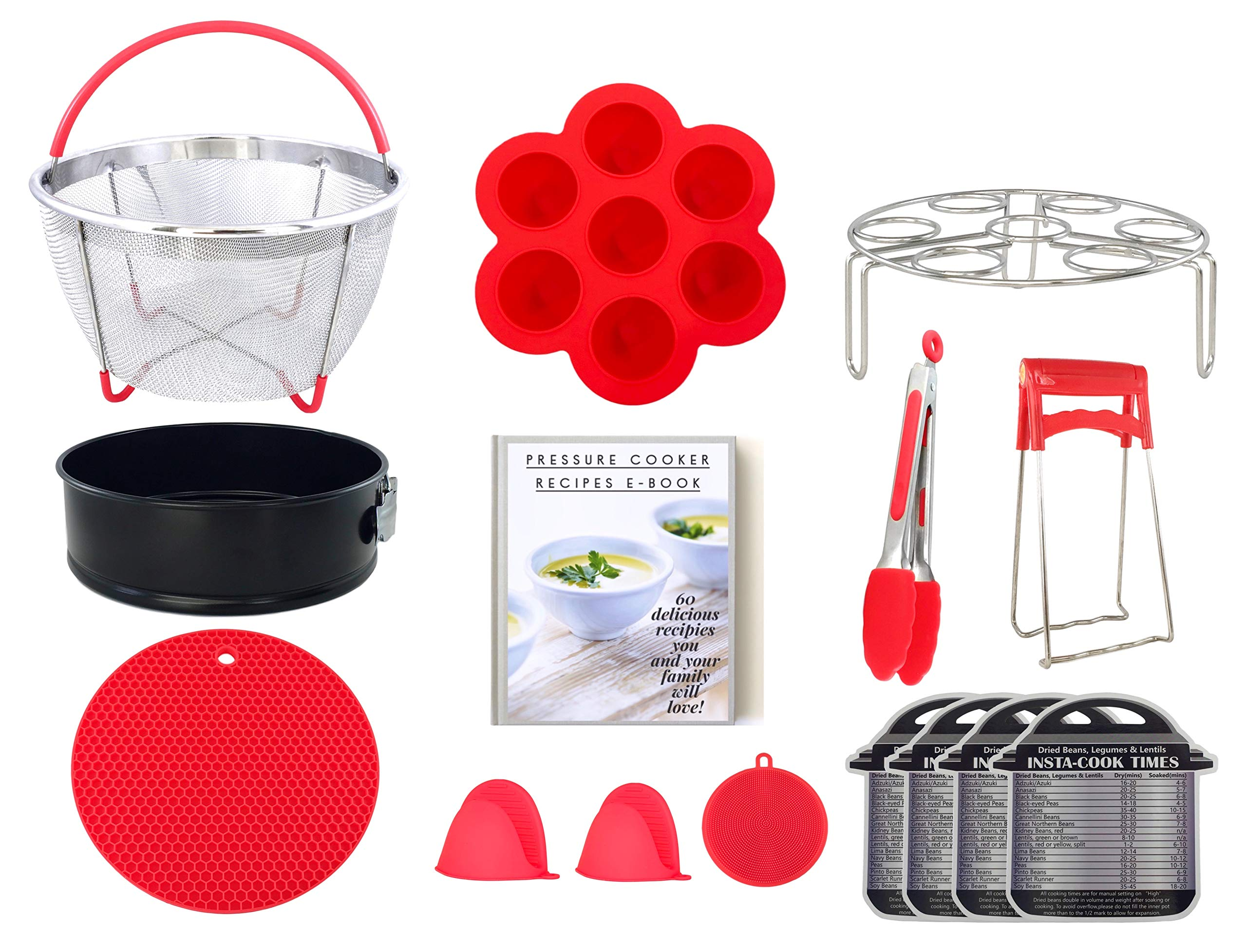 Milhouse Products 14pcs Accessories Set for Instant Pot 6, 8 Qt, & other electric pressure cookers