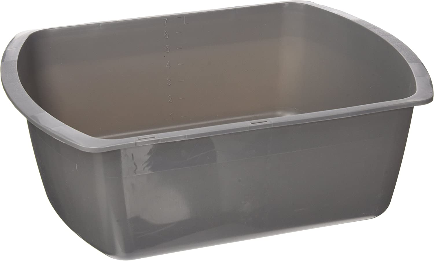 Medline Rectangular Plastic Wash Basins, Graphite