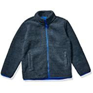 Amazon Essentials Boy's Polar Fleece Lined Sherpa Full-Zip Jacket