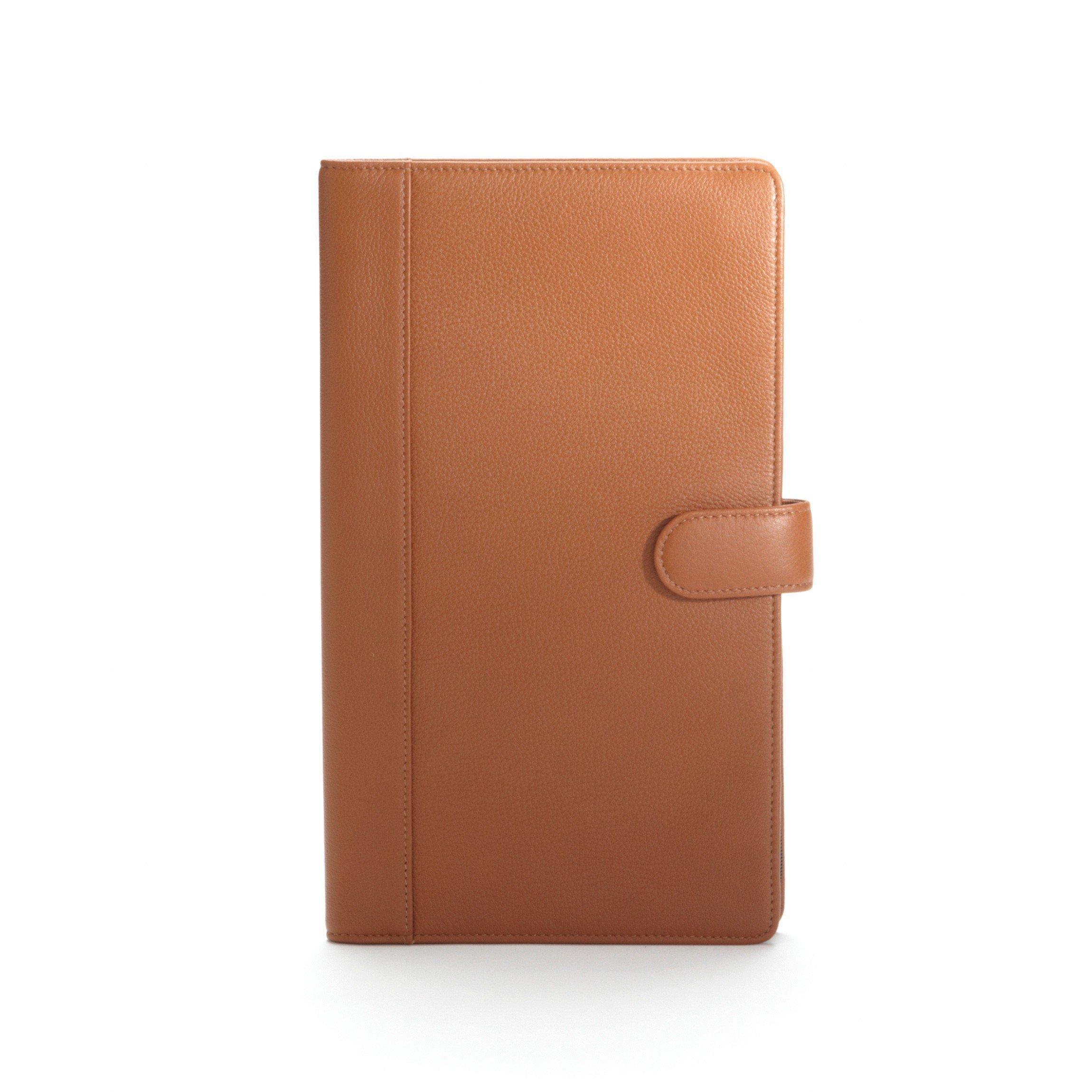 Jewelry Portfolio - Full Grain Leather - Cognac (brown)