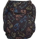 GroVia Hybrid Cloth Diaper Shell, Snap Shell (Heartspring)