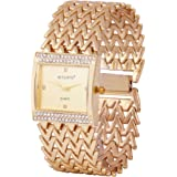 Skylofts 18K Gold Plated Metallic Strap Bracelet Women Watches - Girls Watches
