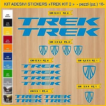 Kit Pegatinas Stickers Bicicleta Trek -Kit 2-16 Piezas- Bike Cycle Cod. 0897 (053 BLU LEGGERO): Amazon.es: Deportes y aire libre