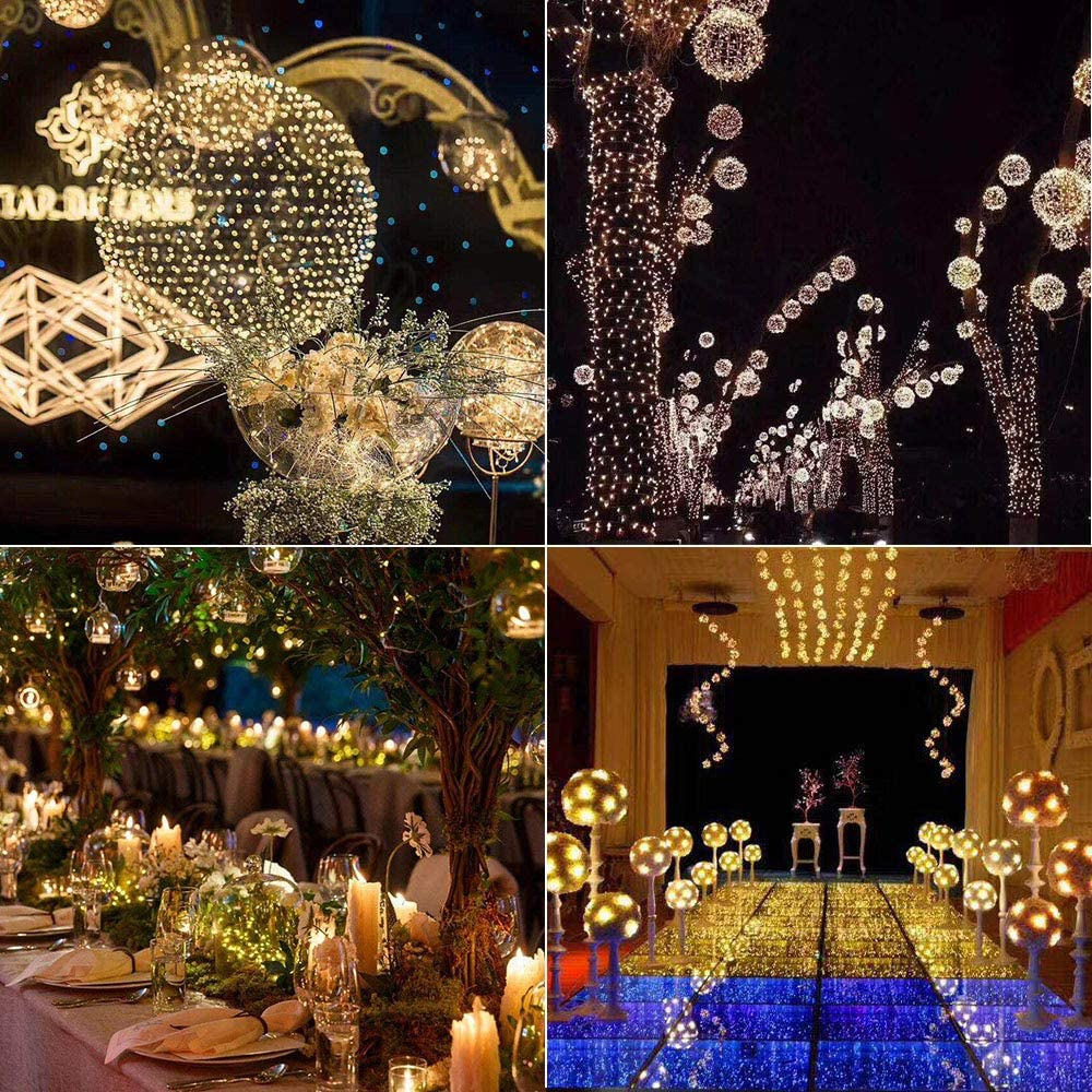 16.5, Muticolor Battery Operated Fairy String Lights Twinkle Firefly Lights with 8 Modes Remote Timer for Bedroom Patio Wedding Party Festival Indoor D/écor