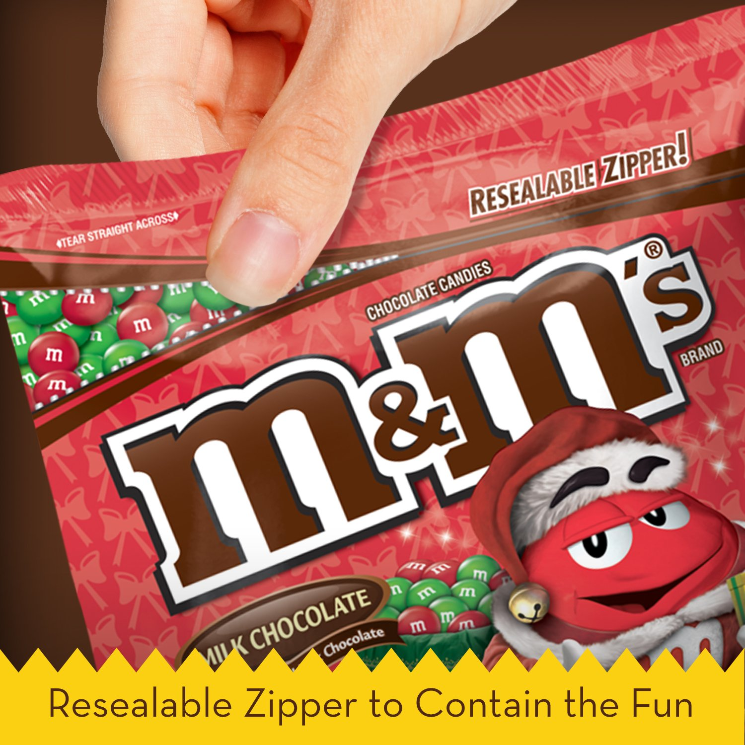 Amazon.com : M&M'S Holiday Milk Chocolate Candy Party Size 42 ...