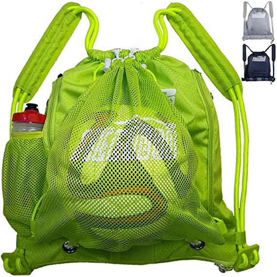 0f20de7e9 Tigerbro Soccer Backpack for Youth Kids Girls Boys Women Men Sports Bag for Basketball  Football with Ball Holder Shoe Compartment Waterproof, Equipment Bags ...