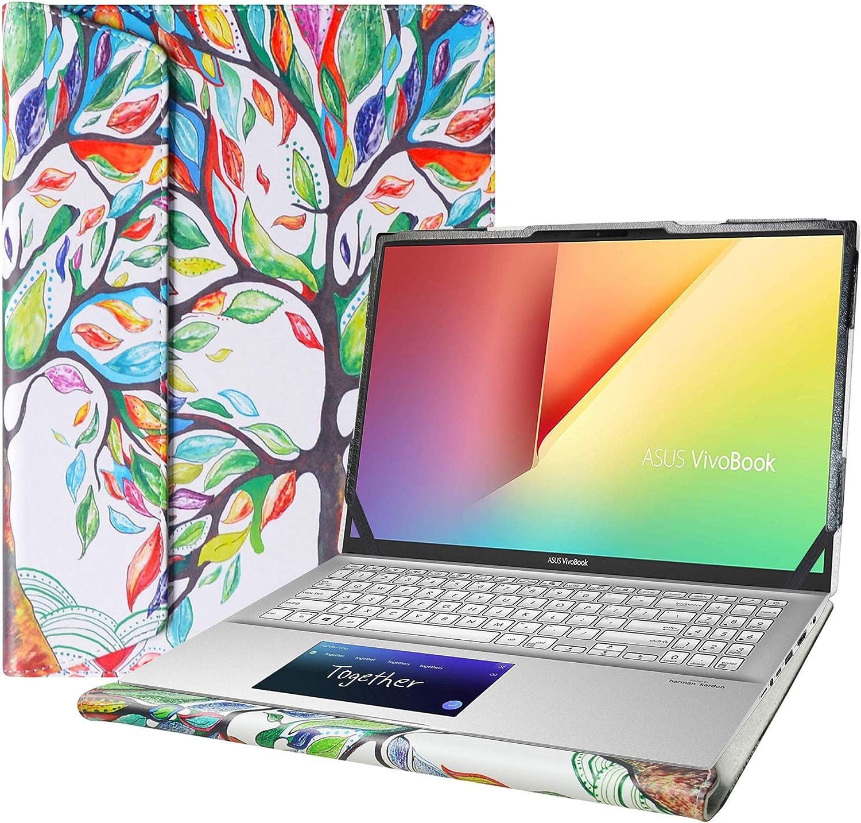 "Alapmk Protective Cover Case for 15.6"" Asus VivoBook S15 S532FA/VivoBook 15 F512DA F512FA X512FA/ASUS Q547FD Q537FD & Lenovo Yoga Slim 7 15IIL05 & HP Envy x360 15 15m-eeXXXX Laptop,Love Tree"