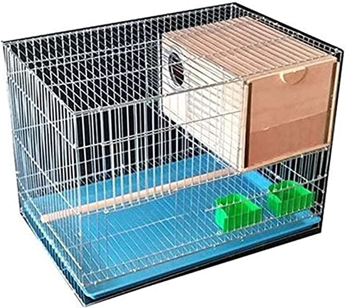 Jaula dpájaros duradera y ecológica, Parrot Jaula Pájaros Parrot Jaula de pájaros Pequeño Pájaro Cría de aves Pájaros Suministros para mascotas (rectangular) Jaula de pájaros grande Jaula para pájaros