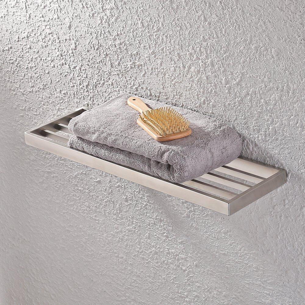 KES Bathroom Bath Towel Rack 24-Inch Bath Single Wall Mount Shelf Rustproof Stainless Steel Brushed Finish, A23010-2