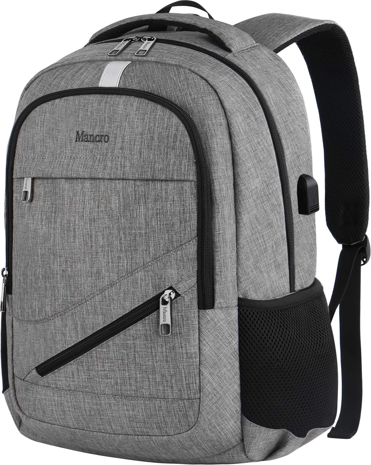 Mancro Anti Theft Business Laptop Backpack Fenix Toulouse Handball Notebook Protector For Men Black Travel Backpacks With Usb