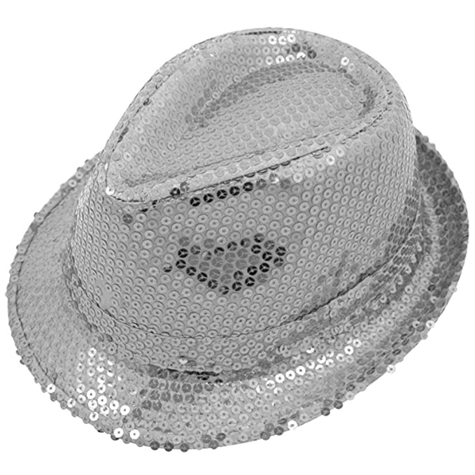 Cappello Fedora luccicante con paillettes 867123434923