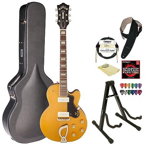 Hermandad M-75 Juego GLD oro single Cutaway Guitarra de cuerpo ...