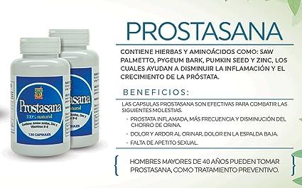 Amazon.com: Prosta Sana, Capsulas naturales para el alivio de la Prostata inflamada. Prostate Support with Saw Palmetto. Set de 2 Frascos con 120 Capsulas ...