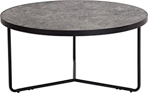"Flash Furniture Providence Collection 31.5"" Round Coffee Table in Concrete Finish"