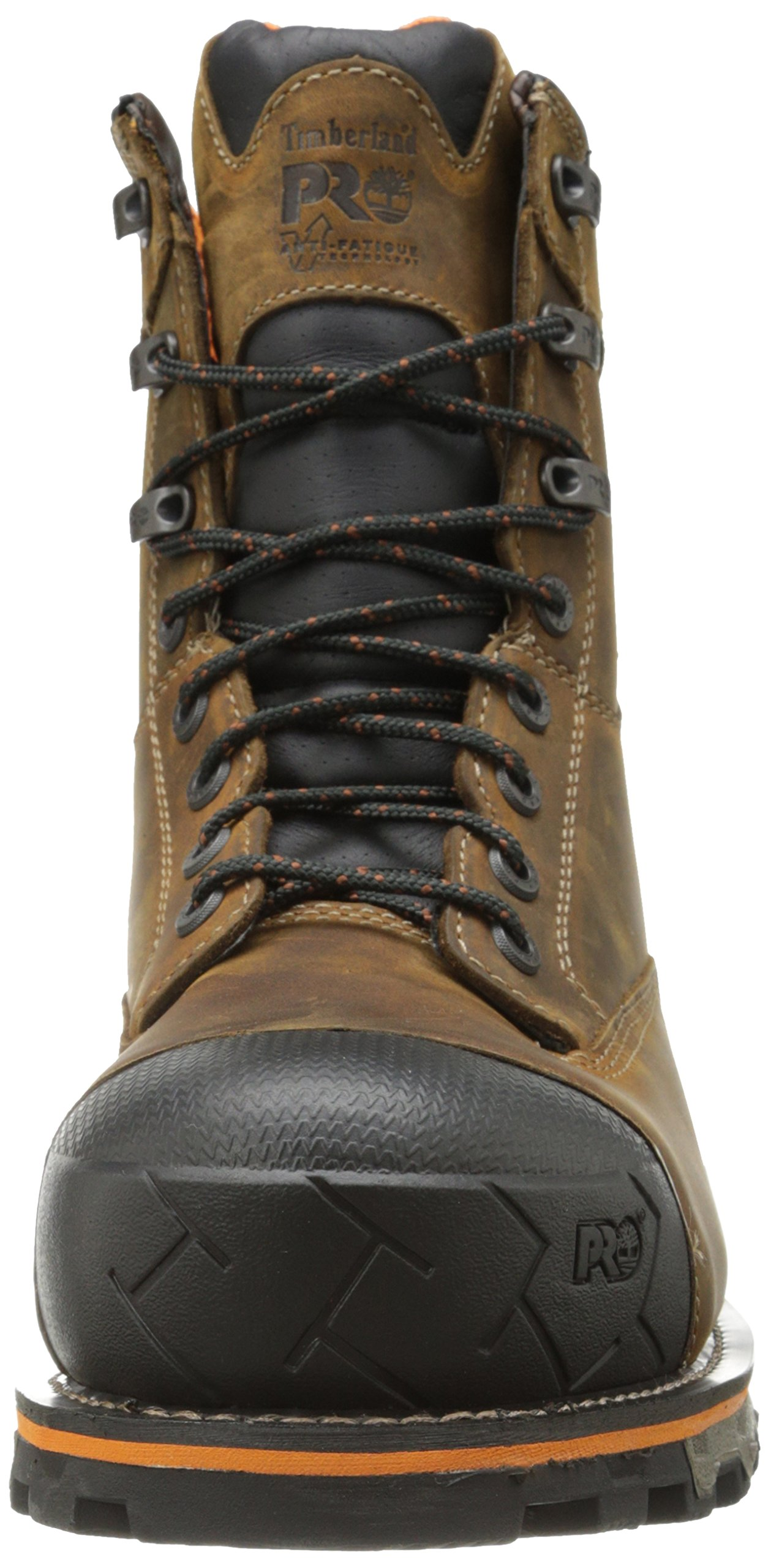 Timberland PRO Men's 8 Inch Boondock Composite Toe Waterproof Industrial Work Boot,Brown Oiled Distressed Leather,7.5 W US by Timberland PRO (Image #4)
