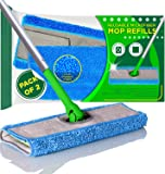 Microfiber Mop Pads Compatible with Swiffer Sweeper, 2-Pack