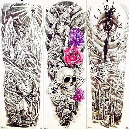 Tatuaje Falso Tatuaje Estatua De La Libertad Brazo Completo ...