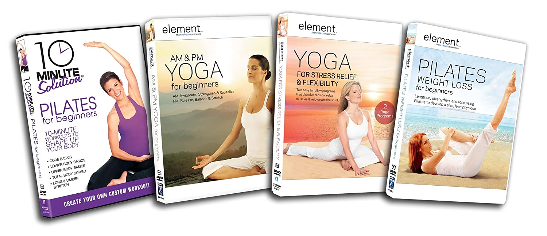 75e70d22a05 Amazon.com  Pilates   Yoga Starter Kit (10 Minute Solution   Pilates For  Beginners   Element AM   PM Yoga For Beginners   Element Yoga for Stress  Relief ...