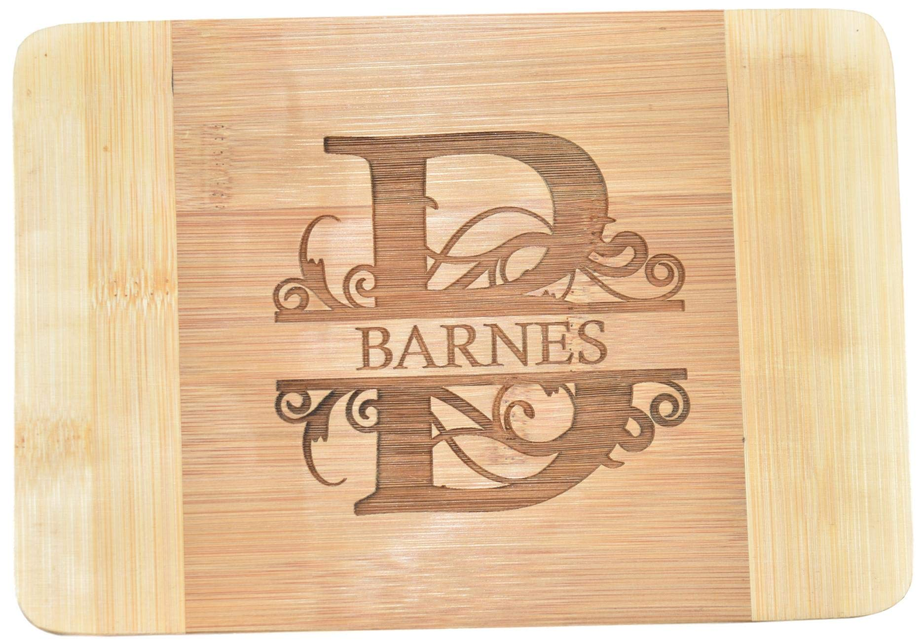 Personalized/Custom Engraved Bamboo Cutting/Cheese Board - 9''x6.25''x0.37'' (SMALL)