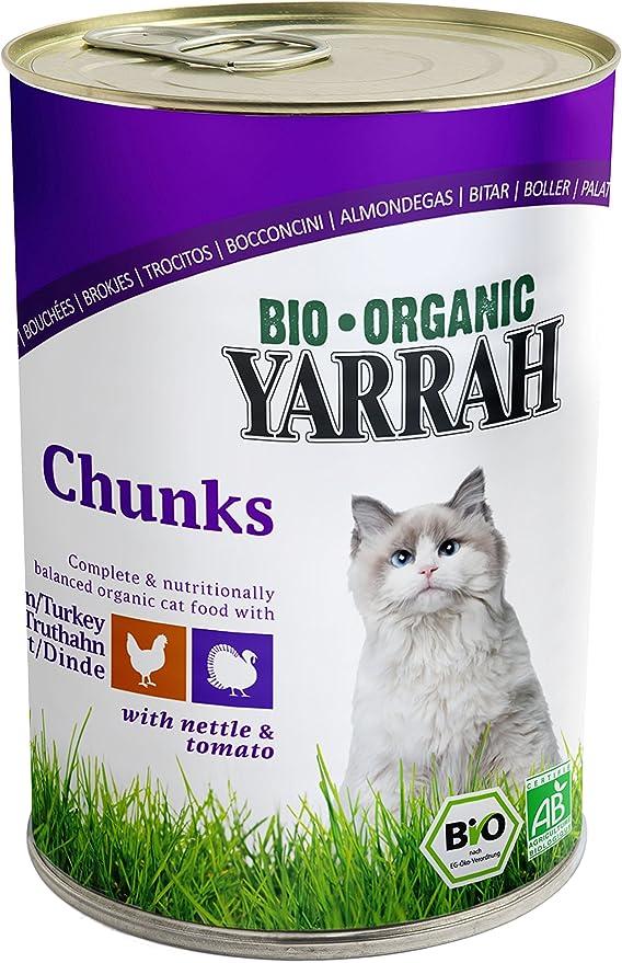 yarrah bröckchen pollo y pavo 405 g bio gato Forro, 6 pack (6 x ...