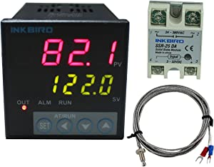 Inkbird ITC-106VH AC 100 to 240V PID Temperature Thermostat Controllers F and C K Sensor 25DA SSR Solid State Relay for Sous Vide Home Brewing