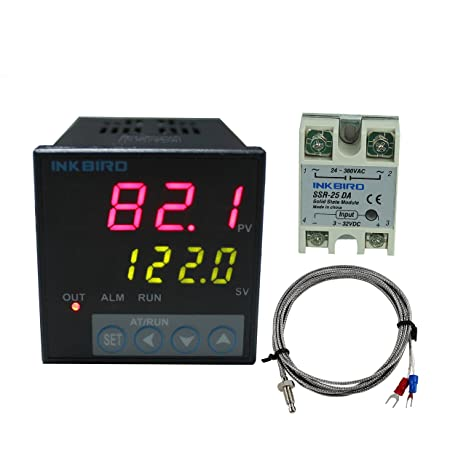 Inkbird ITC-106VH PID Temperature Thermostat Controllers, Fahrenheit &  Centigrade, 100ACV - 240ACV, K Sensor, Solid State Relay for Sous Vide,  Home