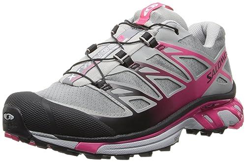 SALOMON XT Wings 3 Zapatilla de Trail Running Señora, Gris/Rosa, 36: Amazon.es: Zapatos y complementos