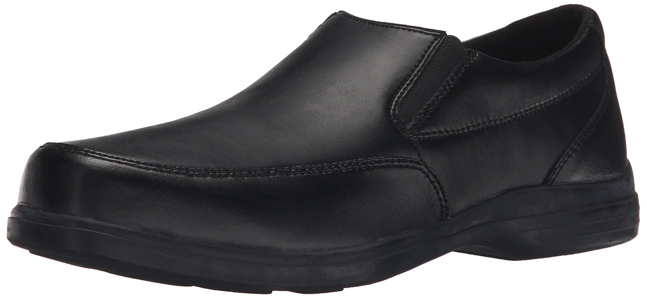 Hush Puppies Shane Uniform Dress Shoe (Toddler/Little Kid/Big Kid), Black, 9 W US Toddler