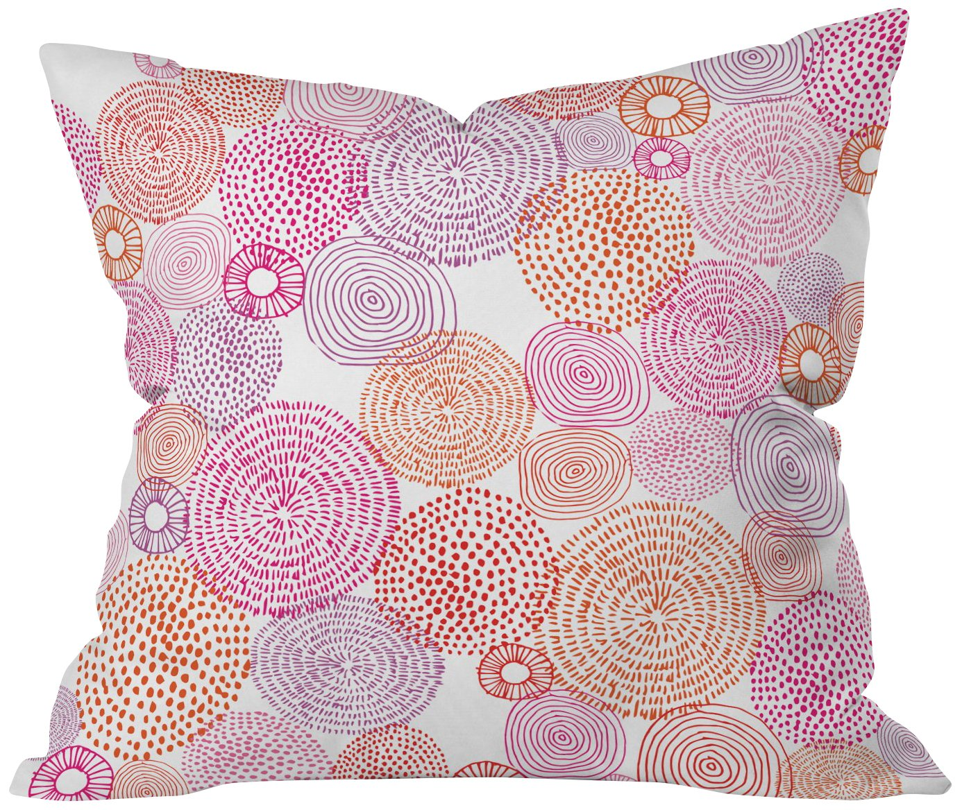 Deny Designs Camilla Foss Circles In Colours I Throw Pillow 20 X 20 Amazon In Home Kitchen