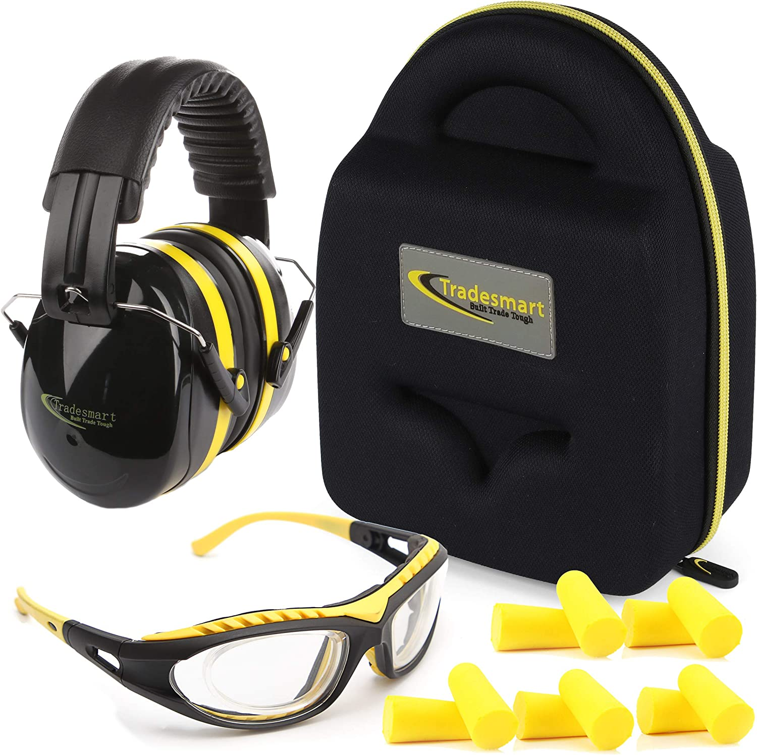 TRADESMART Shooting Range Earmuffs and Glasses – Safety Eye and Ear Protection