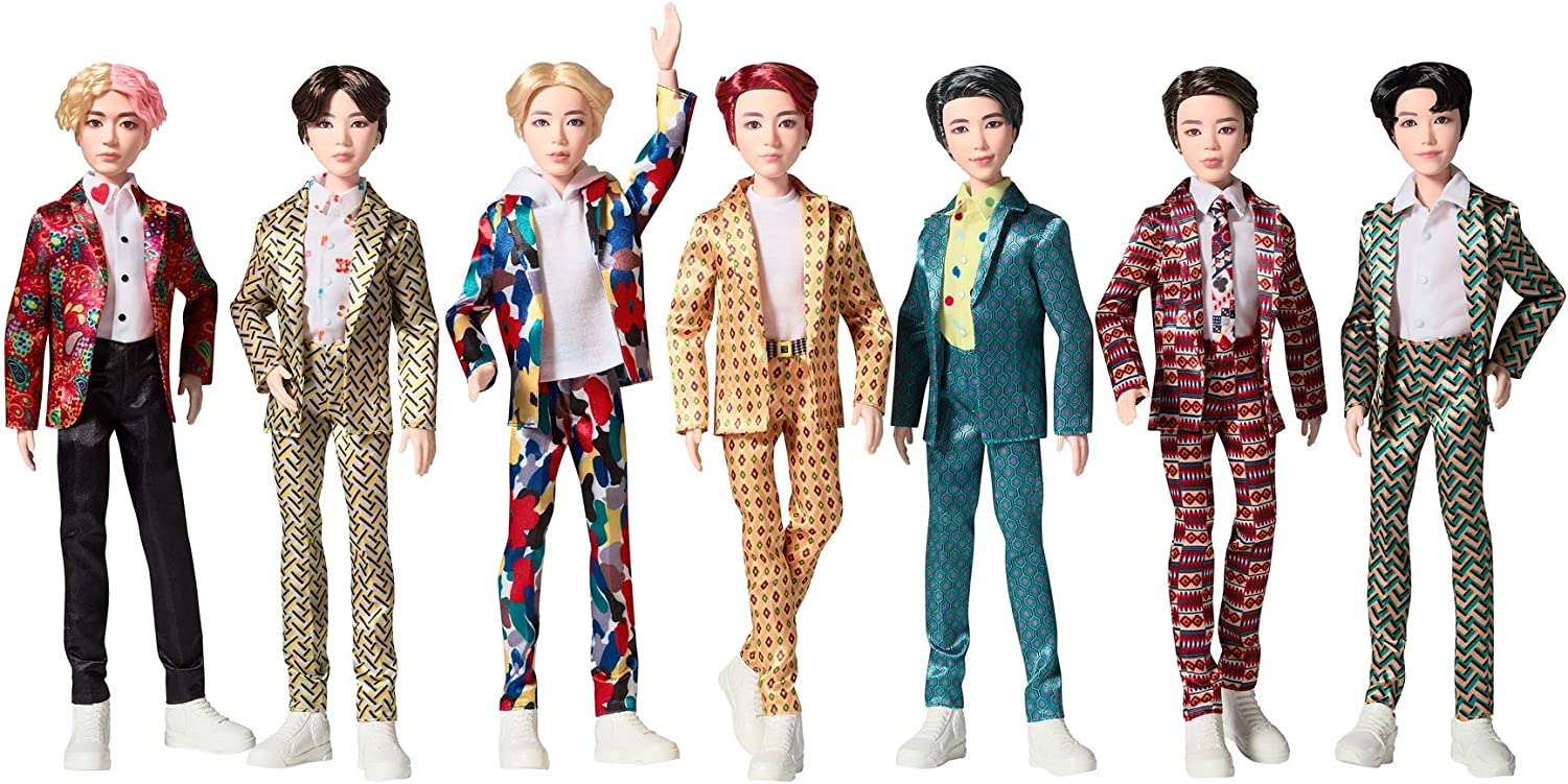 Amazon Com Bts 11 In Fashion Doll Seven Pack Based On Bangtan