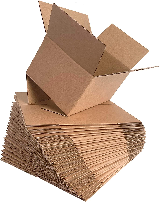 KILLUA Shipping Boxes 10X7X5 Kraft Corrugated Cardboard Box Small Mailing Boxes, 25 Pack (10X7X5),Multi-size Selection