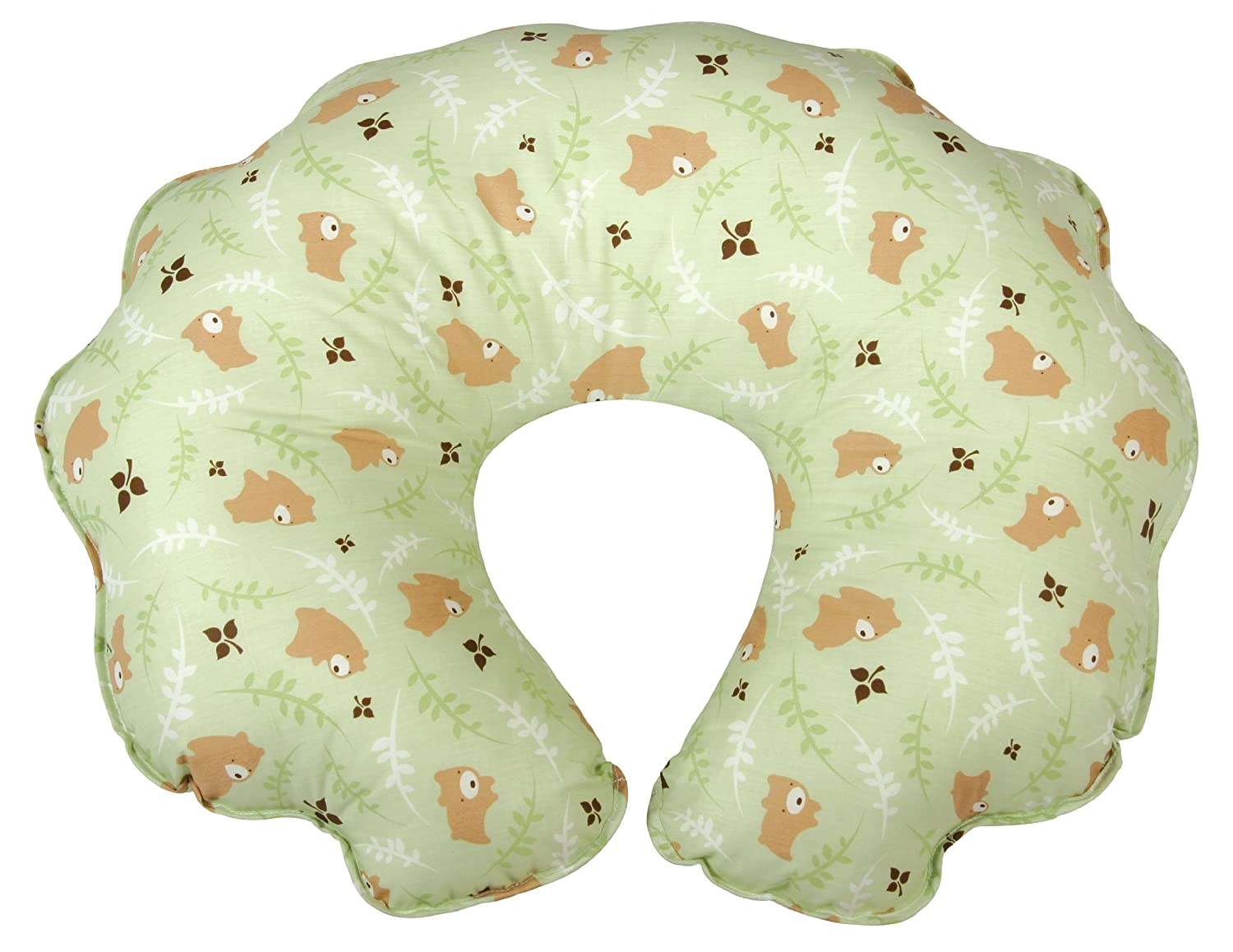 Leachco Cuddle-U Original Nursing Pillow, Green Bears 13789