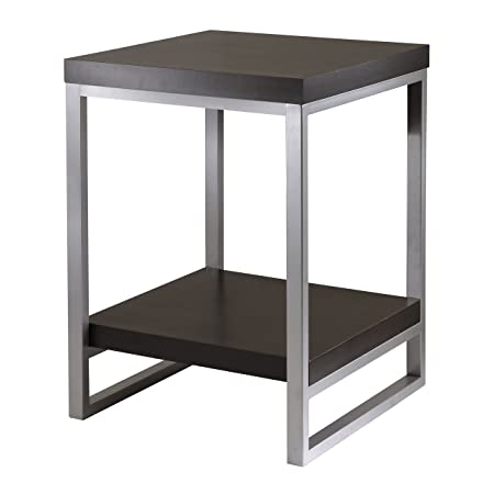 Winsome Wood Jared End Table, Espresso Finish desks