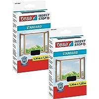 tesa® Insect Stop standaard vliegengaas voor ramen - insectenbescherming op maat te snijden (2-pack - antraciet…