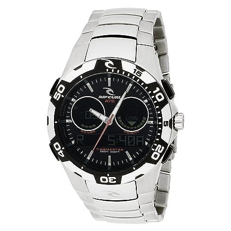 b513ad8eec1 Rip Curl Men's A1029-BLK Shipstern Tidemaster 2 Black Stainless Steel Tide  Watch
