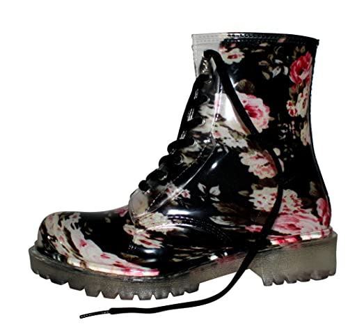 EROGANCE Damen Gummistiefel Regen Stiefel Stiefeletten Boots Gr. 36 – 45 / G01