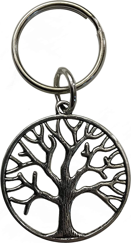 Pewter Metal Tree of Life Keychain